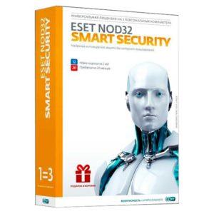 ПО Антивирус ESET NOD32 Smart Security лицензия на 1 год или продление на 20 месяцев на 3ПК BOX