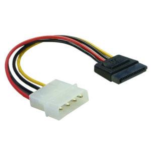 Кабель, переходник питания для HDD SATA Molex 4 (F) — SATA 15 (M) 15 см