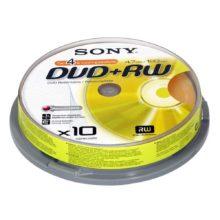 Диск DVD+RW Sony 4.7Gb 4x (10 шт на шпиле)