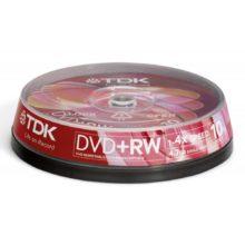 Диски DVD+RW TDK 4,7 Gb 4x (10 шт. на шпиле)
