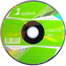 Диск DVD+R SmartTrack 4,7 Gb 16x (без коробки)