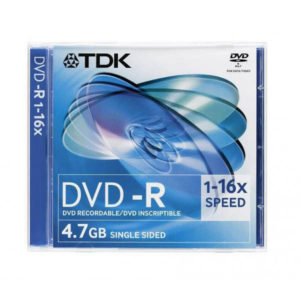 Диск DVD-R TDK 4.7 Gb 16x Slim