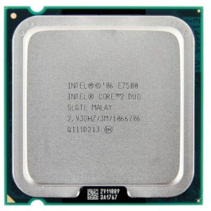 Процессор (CPU) INTEL Core2 Duo (Wolfdale) E7500 2.93GHz 1066MHz 3Mb OEM