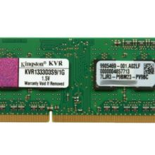 Модуль памяти SO-DIMM DDR3 1Gb PC-10660 1333 Mhz Kingston