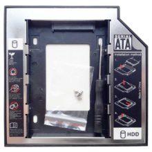 Переходник HDD в отсек привода SATA-SATA 12.7 мм для ноутбуков (Second HDD Caddy)