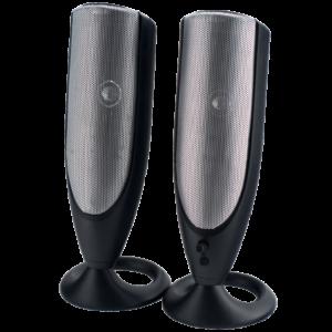 Колонки Perfeo ACTIVE 2.0, мощность 2×3 Вт, Silver Серебристые, USB (PF-310)