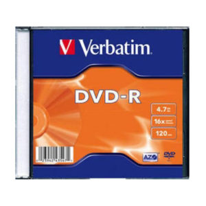 Диск DVD-R Verbatim 4,7 Gb 16x VDL+ Slim (43547)