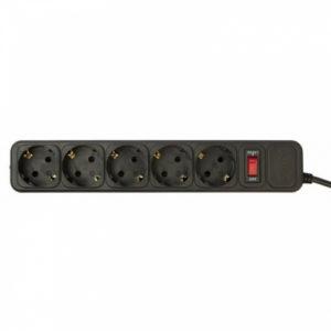 Сетевой фильтр 5bites 1.0m 5 розеток Black SP5-B-10 Черный
