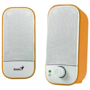 Колонки Genius SP-A120 2×1Вт Orange-White