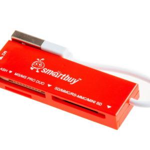 Адаптер Flash-карт USB – microSD SmartBuy (SBR-717-R) Red Красный