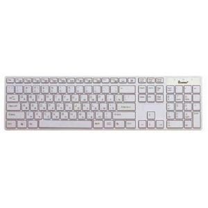 Клавиатура USB SmartBuy 204 Slim Мультимeдийная/ Белая (SBK-204US-W)