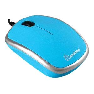 Мышь USB SmartBuy 313 Blue/Silver (SBM-313-BS)