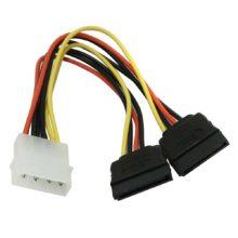 Переходник питания для HDD Serial ATA Molex IDE -> 2xSATA 15 см (5bites SATA2-15P015S)