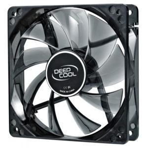 Вентилятор для корпуса 80x80x25 DeepCool Wind Blade 3-pin со светодиодами, голубой (1800 об/мин, голубая подсветка, 20дБ)
