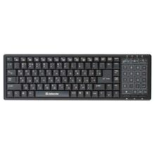 Клавиатура Defender TouchBoard MT-525 Nano Black 104 кнопки + Touchpad беспроводная Чёрная