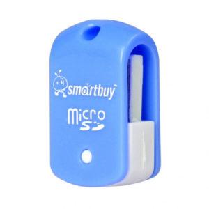 Адаптер Flash-карт USB – microSD SmartBuy (STR-706-B) Blue Голубой