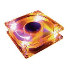 Вентилятор для корпуса 80x80x15 3-pin Gembrid Orange (Оранжевая подсветка)