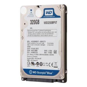 Накопитель (HDD) 2.5″ 320 Gb WD Scorpio Blue WD3200BPVT 5400 rpm 8 МБ SATAII