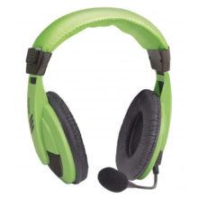 Гарнитура DEFENDER стерео Gryphon HN-750 Регулятор громкости, кабель 2 метра, Green Зеленые