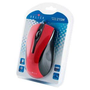 Мышь Oklick 215M USB Black/Red Черная-Красная