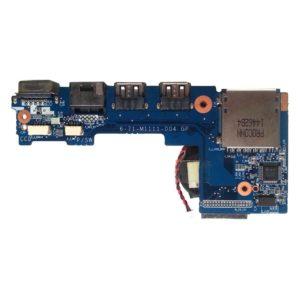 Плата 2xUSB, VGA, LAN, Card Reader для ноутбука DNS, Clevo M1110, M1111 (6-71-M1111-D04 GP)