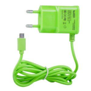 "Сетевое зарядное устройство ""LP"" Micro USB 2.1А Зелёное"