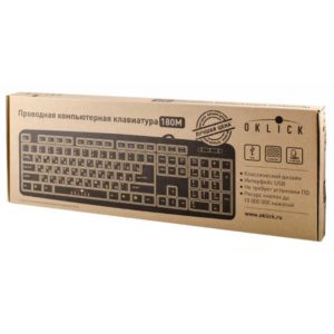 Клавиатура USB Oklick 180M Black Чёрный