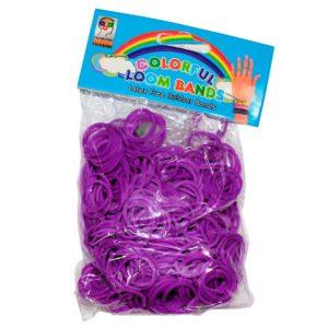 Резинки для плетения Фиолетовые (200шт)