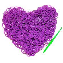 Резинки для плетения Фиолетовые (600шт)
