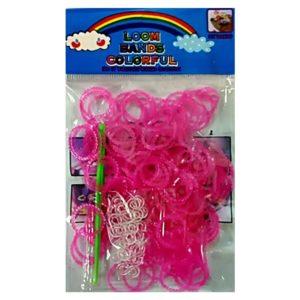 Резинки для плетения Розовые (200шт)