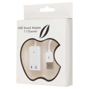 Звуковой адаптер S/B USB 2.0 ASIA 8C V 7.1 Channel White Белый RTL