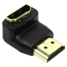Переходник HDMI M (19 male) - HDMI F (19 female) 90°, Г-образный, 24GOLD (5bites HA1005)