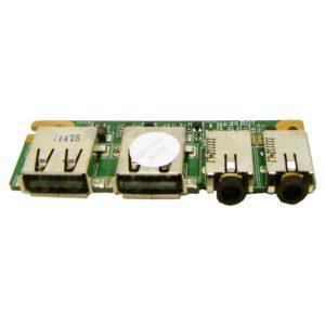 Плата 2xUSB, 2xAUDIO для ноутбука Asus K53SV, K53SD, K53E, A53E (K43SD IO BOARD, K53SD, 69N0KBB10H01-01, 60-N6EIO1000-H01)