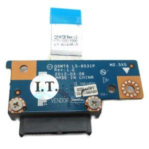 Плата SATA для соединения приводов DVD к ноутбукам Acer Aspire E1-521, E1-531, E1-571, Packard Bell TE11 (Q5WT6 LS-8531P) + шлейф (Q5WT6 NBX00015200)