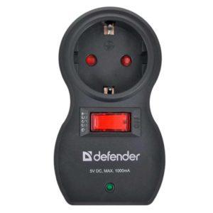 Сетевой фильтр DEFENDER Voyage 100 1 розетка + 2xUSB-порта