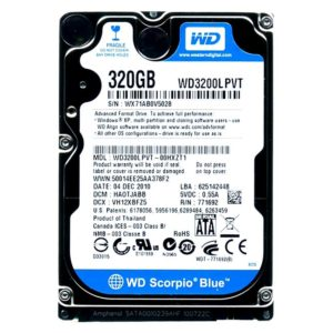 Накопитель (HDD) 2.5″ 320 Gb WD Scorpio Blue WD3200LPVT 5400 rpm 8 МБ SATAII