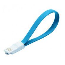 Дата-кабель USB - micro USB Smartbuy, магнитный, длина 0,2 метра Blue Голубой (iK-02m blue)