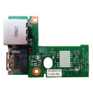 Плата 1xUSB + LAN RJ45 Ethernet для ноутбука Lenovo IdeaPad B570e, B570, B575, Z570, Z575 (55.4M504.001G, LZ57 RJ45_USB BD 48.4PA05.02M)