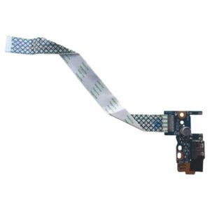 Плата кнопки включения, старта, запуска + 1xUSB для ноутбука Samsung NP355V4C, 355V4C (LS-8865P) + шлейф 12-pin 145×13 мм (NBX00017M00)