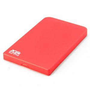 """Бокс внешний AGESTAR SUB2O1 USB2.0 HDD 2.5"""" SATA Алюминиевый Red Красный"""