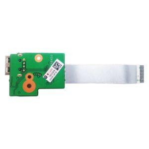 Плата 1xUSB для ноутбуков HP Pavilion dv6-3000, dv6-3xxx серий (DA0LX6TB4D0, 36LX6UB0000) + шлейф 12-pin 67×14 мм (CviLux E208903-3, AWM 20706 105C 60V VW-1)