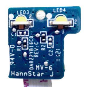 Плата LED индикации со шлейфом 4-pin 59×5 мм для ноутбука HP Pavilion g6-1000, g7-1000, g6-1xxx, g7-1xxx серий (DAR22YB16C0, 33R22LB0010)