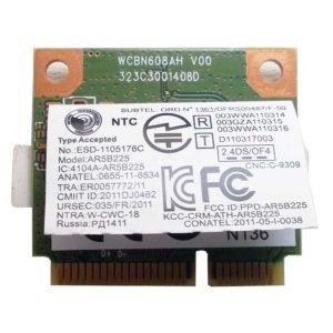 Модуль Wi-Fi + Bluetooh BT 4.0 Mini PCI-E Atheros AR5B225 802.11b/g/n для ноутбука Lenovo IdeaPad G500, G505, G505s (WCBN608AH V00)