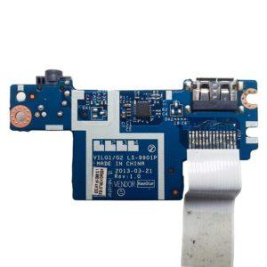 Плата USB + Audio + Card Reader для ноутбука Lenovo IdeaPad G500s, G505s (VILG1/G2 LS-9901P) + шлейф 14-pin 233 мм (VILG1 NBX0001EG00)