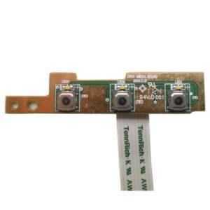 Плата функциональных кнопок Настройки, Центра поддержки и Включения/выключения дисплея для ноутбука Dell Inspiron 15R, N5110, M5110 (DN15, 50.4IF03.101 A01) + шлейф 8-pin 140×9 mm (TennRich-K AWM 20861 105C VW-1)