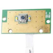 Плата кнопки включения, старта, запуска ноутбука Dell Inspiron R15, N5110, M5110 (50.4IE02.201, DQ15 Power A01, DQ15_PWR_10062010) + шлейф (JI-HAW AWM E118077 2896 80C)