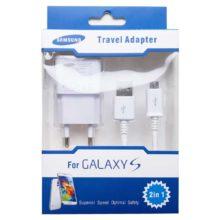 Сетевое зарядное устройство для Samsung USB выход 2А + micro-USB Белое Коробка (SM000417)