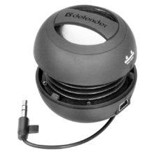 Акустическая система Defender SOUNDWAY BLACK 1.0, мощность 2 Вт, встроенный аккумулятор 180 mAh, Black Чёрная (65551)
