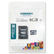 Карта памяти MicroSDHC Kingmax 8 ГБ Class 4 + адаптер SD (KM08GMCSDHC41A)