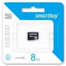 Карта памяти MicroSDHC SmartBuy 8 ГБ Class 4 без адаптера SD (SB8GBSDCL4-00)